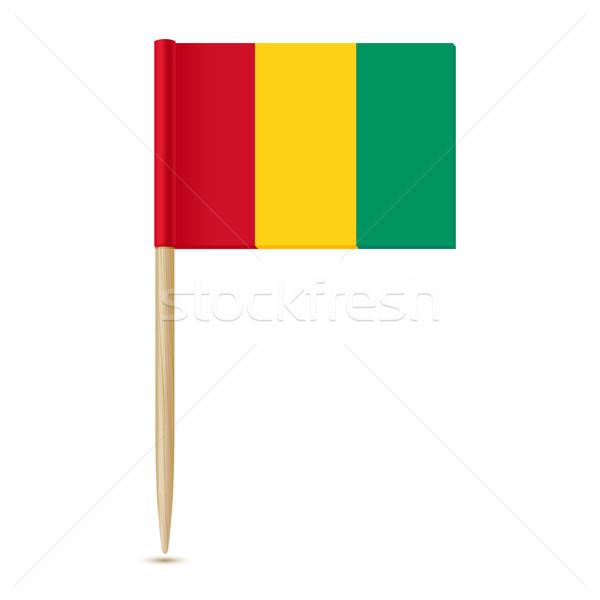 Bayrak Gine beyaz kâğıt seyahat siyah Stok fotoğraf © sonia_ai