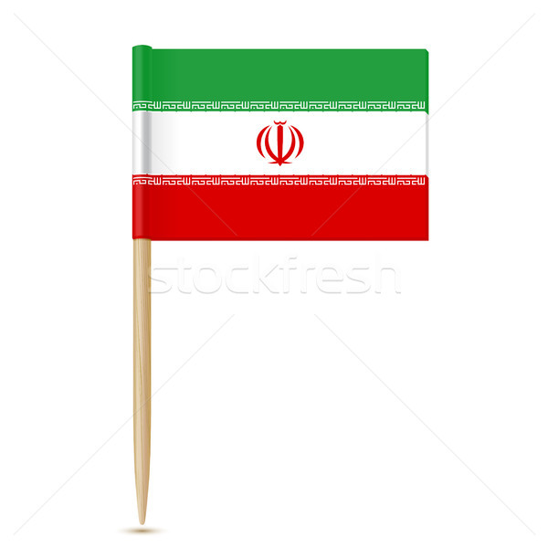 Иран флаг белый дизайна знак путешествия Сток-фото © sonia_ai