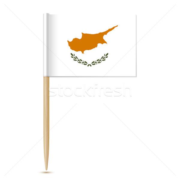 республика Кипр флаг eps10 изолированный белый Сток-фото © sonia_ai
