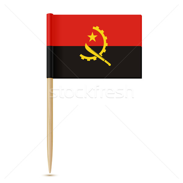Flag of Angola. Flag toothpick 10eps Stock photo © sonia_ai