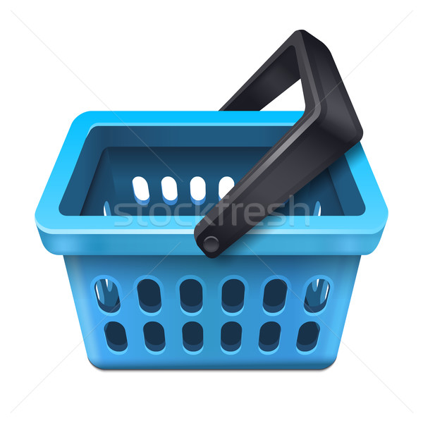 Blue shopping basket icon 10eps Stock photo © sonia_ai