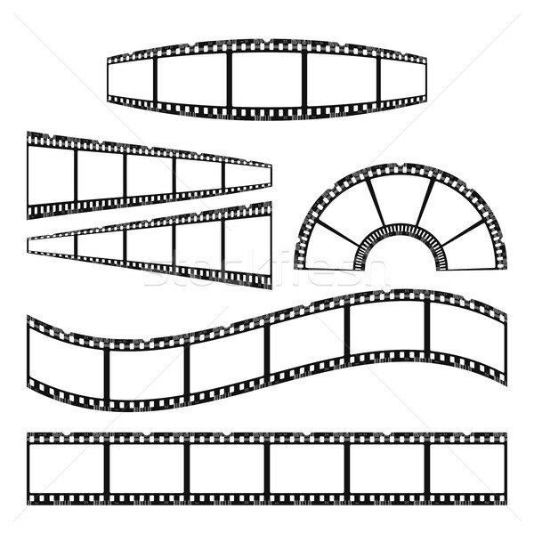 Сток-фото: фильма · изолированный · белый · текстуры · кадр · промышленности
