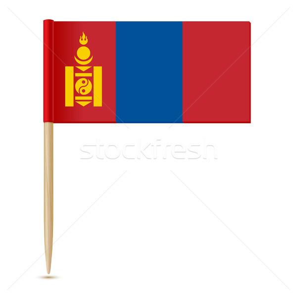 Flag of Mongolia. Flag toothpick Stock photo © sonia_ai