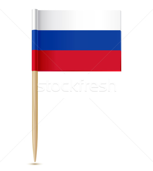 русский флаг бумаги карта красный стране Сток-фото © sonia_ai