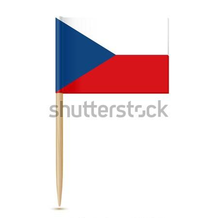 Tsjechische Republiek vlag geïsoleerd witte papier ontwerp Stockfoto © sonia_ai
