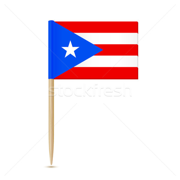 Puerto Rico. Flag toothpick on white background 10eps Stock photo © sonia_ai