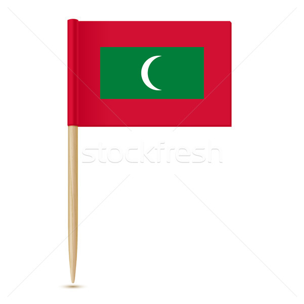 Flag of Maldives. Flag toothpick 10eps Stock photo © sonia_ai