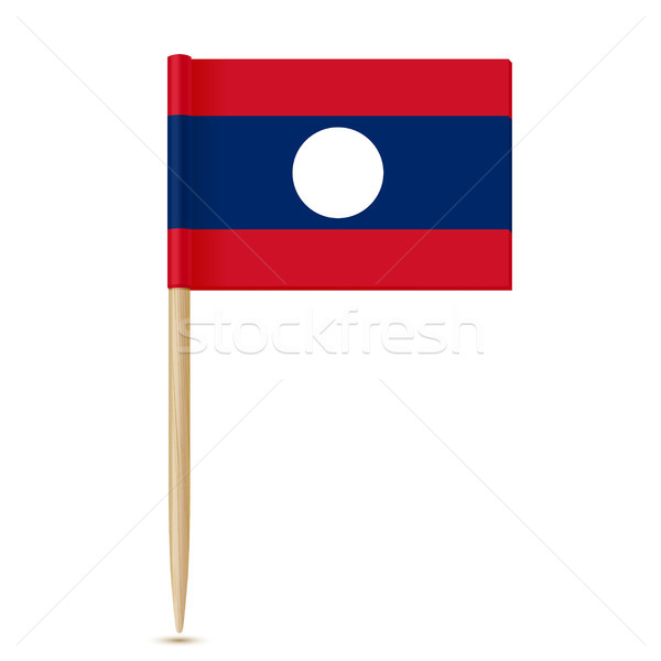 Flag of Laos. Flag toothpick on white background Stock photo © sonia_ai