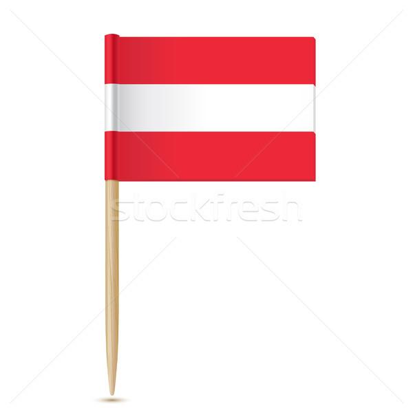 флаг белый древесины фон пространстве свободу Сток-фото © sonia_ai
