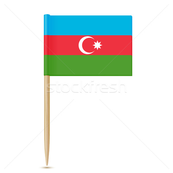 Azerbaijan flag toothpick Stock photo © sonia_ai