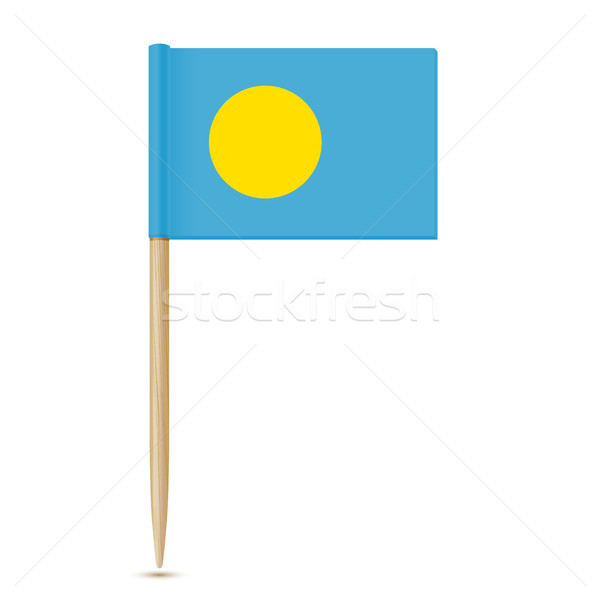 Flag of Palau. Flag toothpick Stock photo © sonia_ai