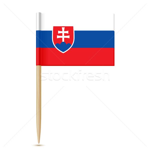 Slovacchia bandiera bianco blu viaggio rosso Foto d'archivio © sonia_ai