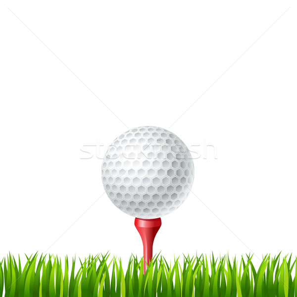 Golf ball on a tee Stock photo © sonia_ai