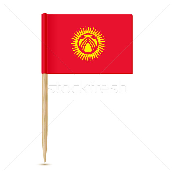 Kyrgyzstan flag toothpick 10eps Stock photo © sonia_ai
