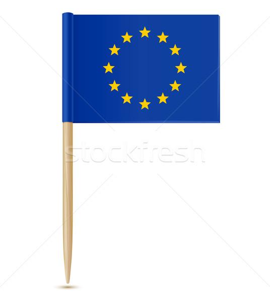 официальный флаг европейский Союза бумаги крест Сток-фото © sonia_ai