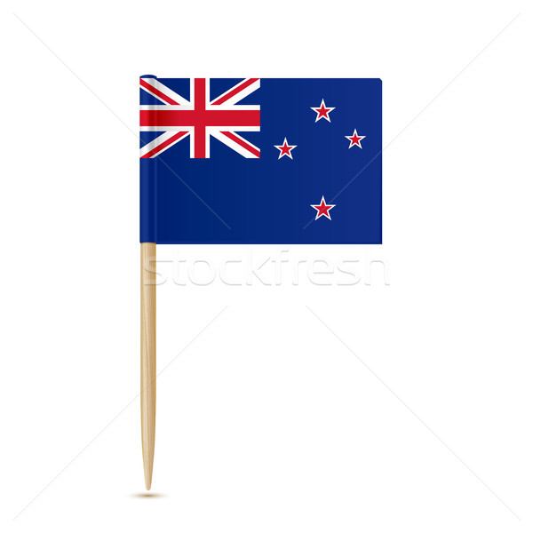 Flag of New Zealand toothpick on white background Stock photo © sonia_ai