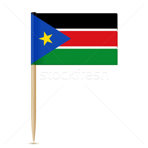 South Sudan flag toothpick 10eps Stock photo © sonia_ai