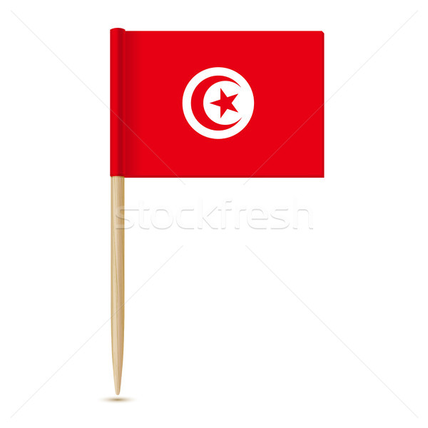 Flag of Tunisia. Flag toothpick 10eps Stock photo © sonia_ai