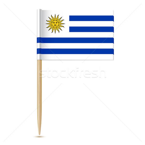 Vlag Uruguay hout zon wereld achtergrond Stockfoto © sonia_ai