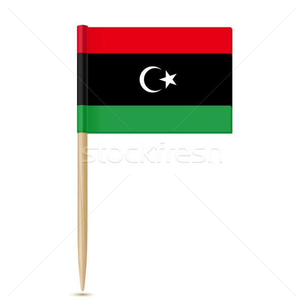 флаг Ливия белый фон знак войны Сток-фото © sonia_ai