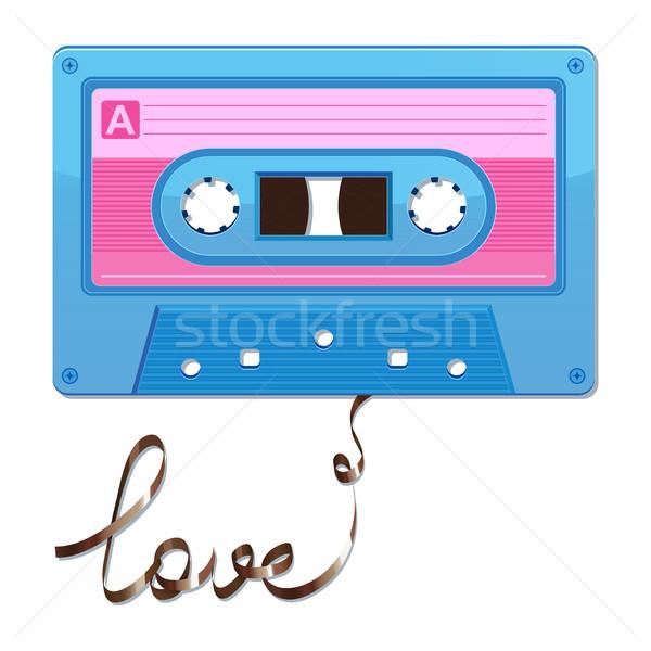 аудио кассету лента любви фон радио Сток-фото © sonia_ai