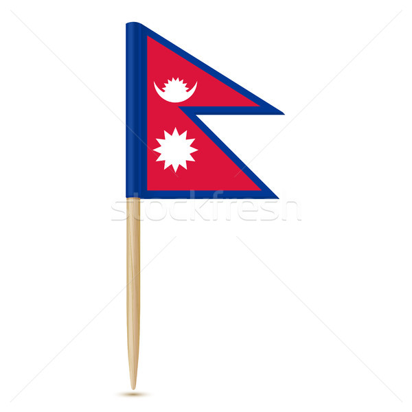 Flag of Nepal. Flag toothpick 10eps Stock photo © sonia_ai