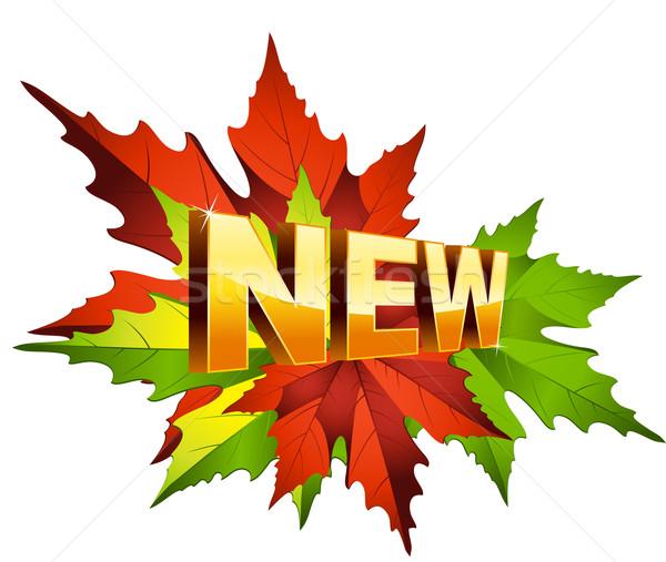 ősz új természet felirat piros ősz Stock fotó © sonia_ai