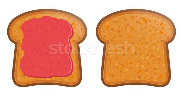 тоста Jam завтрак белый хлебобулочные вектора Сток-фото © sonia_ai