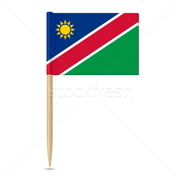 Flag of Namibia. Flag toothpick Stock photo © sonia_ai