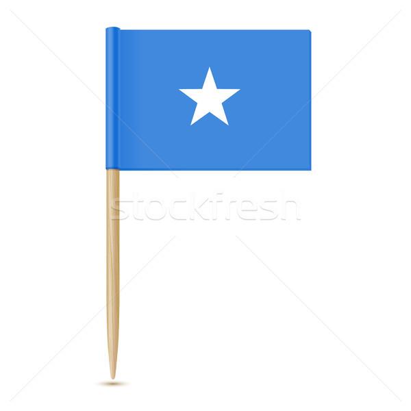 フラグ ソマリア 紙 背景 ピン アフリカ ストックフォト © sonia_ai