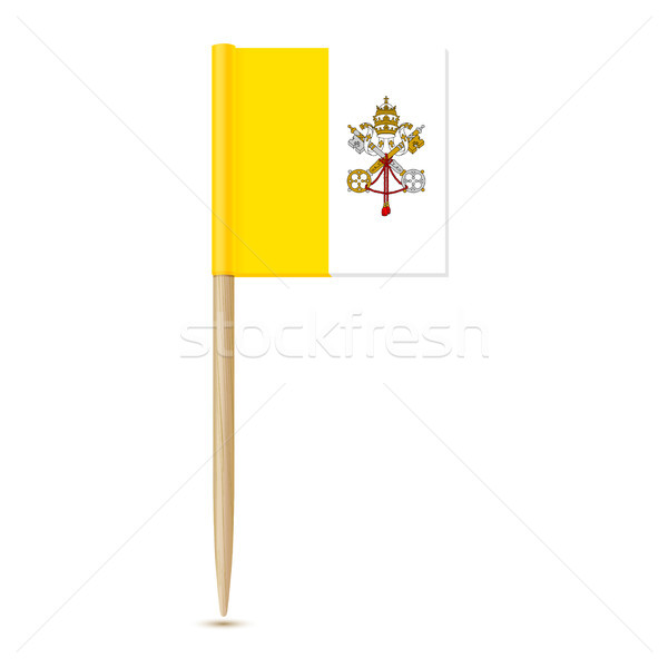 Flag of Vatican City. Flag toothpick on white background Stock photo © sonia_ai