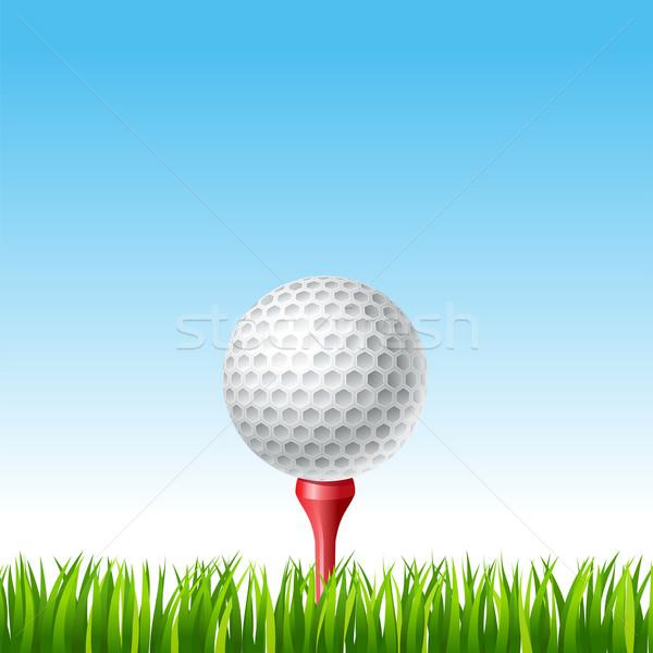 мяч для гольфа трава дизайна зеленый синий мяча Сток-фото © sonia_ai