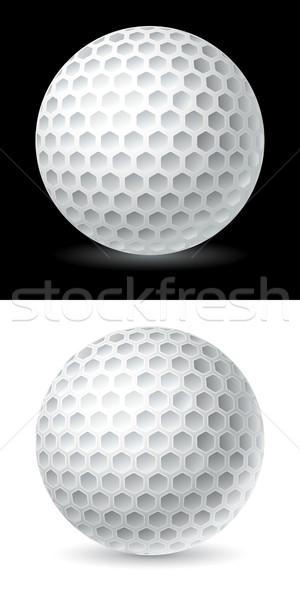 мяч для гольфа гольф дизайна Живопись черный рисунок Сток-фото © sonia_ai