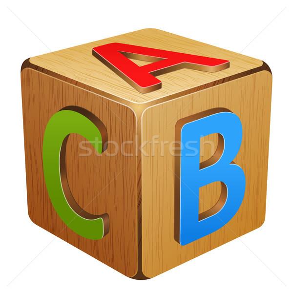куб письма школы дети образование Сток-фото © sonia_ai