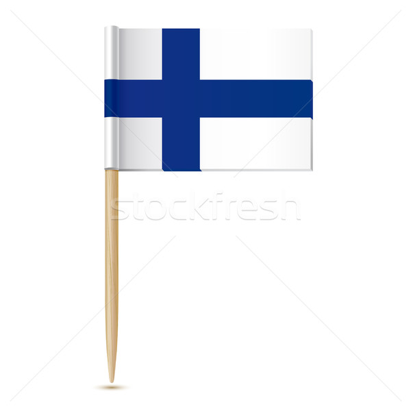 Finnish flag. Flag toothpick Finland Stock photo © sonia_ai