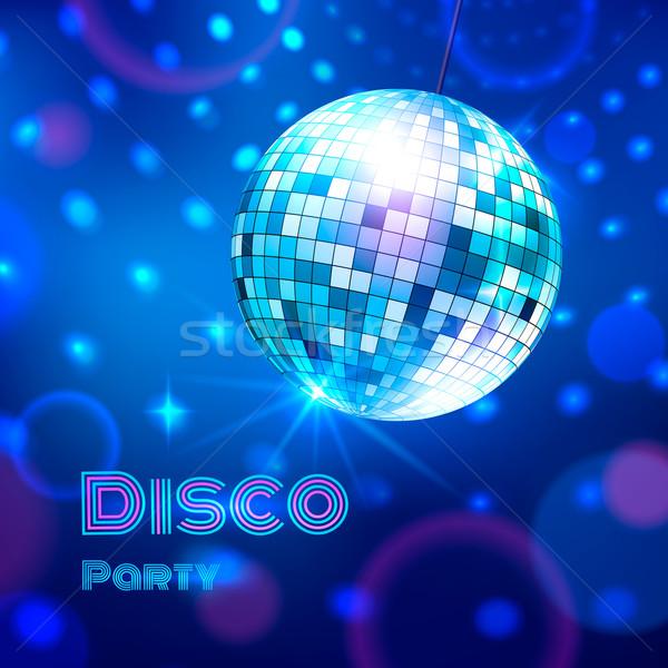 Disco ball. Vector illustration. Stock photo © Sonya_illustrations