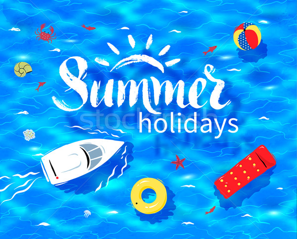 Summer word on sea background Stock photo © Sonya_illustrations