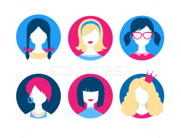 Stock photo: Female avatars.