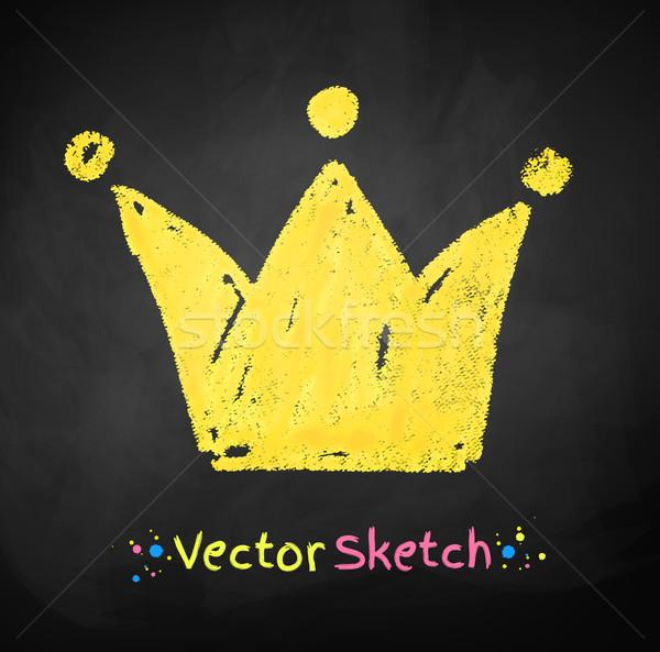 Dibujo corona resumen diseno fondo color Foto stock © Sonya_illustrations