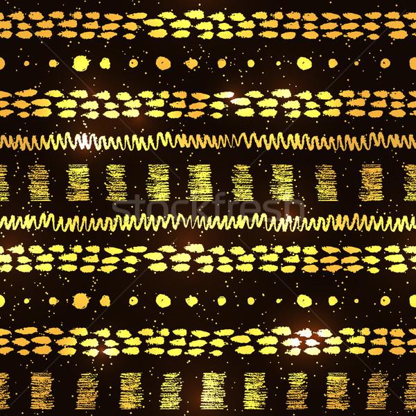 ヴィンテージ 金 黒 色 手描き ストックフォト © Sonya_illustrations