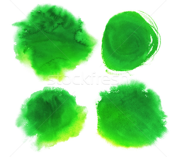 Green watercolor stains Stock photo © Sonya_illustrations