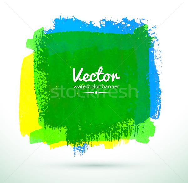 ストックフォト: 水彩画 · バナー · カラフル · 抽象的な · 塗料 · 芸術