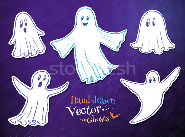 Cute ghosts. Stock photo © Sonya_illustrations