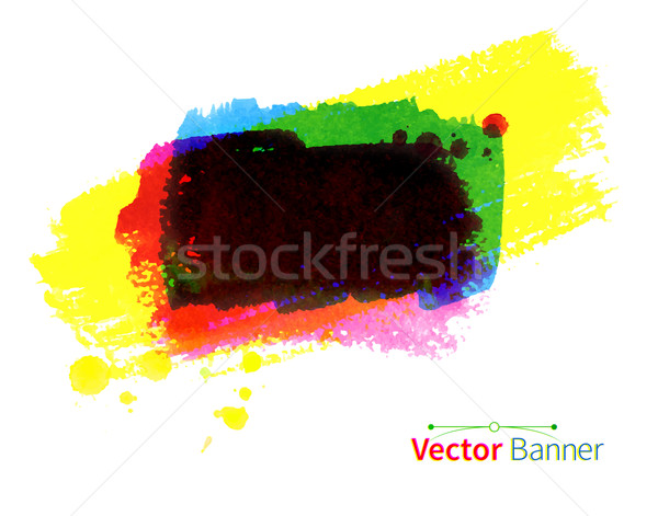 水彩画 ベクトル バナー カラフル 手描き 抽象的な ストックフォト © Sonya_illustrations