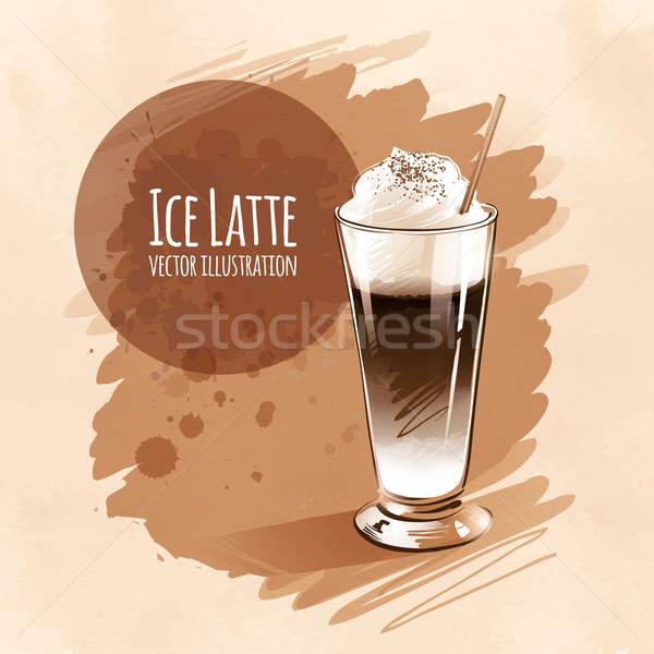 Latte. Stock photo © Sonya_illustrations