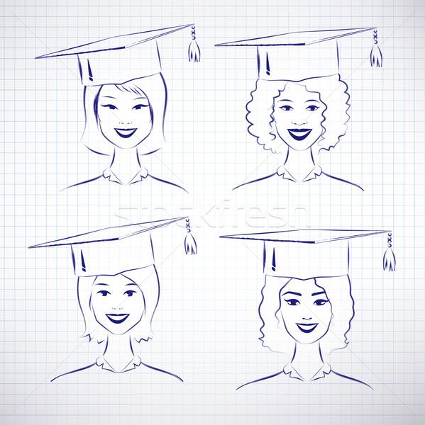 Female students. Stock photo © Sonya_illustrations