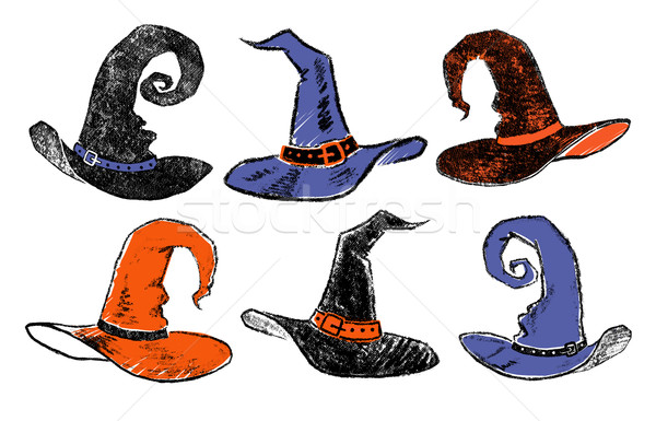 Vintage witch hats. Stock photo © Sonya_illustrations