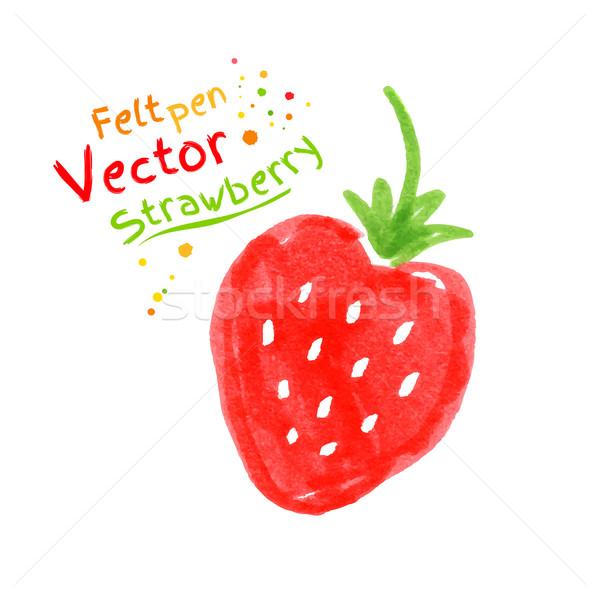 Strawberry. Stock photo © Sonya_illustrations