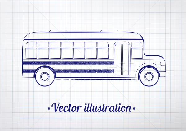 School bus.  Stock photo © Sonya_illustrations