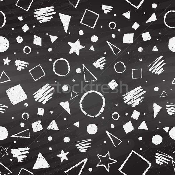 Geometric chalked seamless pattern Stock photo © Sonya_illustrations